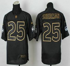 18365b3c3 ... Nike Seattle Seahawks Jersey 3 Russell Wilson 2014 All Black With Gold  With Champions Patch Elite ...