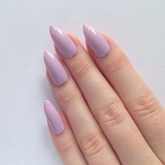 Lilac Stiletto Nails
