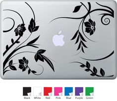 Floral - MacBook Decals MacDecals.com - Cool accessories or designs for your MAC laptop, airbook, pro  Pretty floral design, flowers, nature, beauty, art