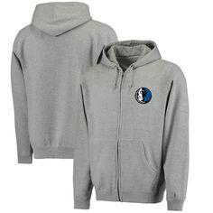 Dallas Mavericks Lefty Full-Zip Hoodie - Heathered Gray - $46.99