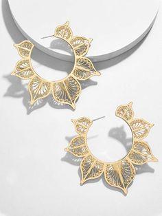 BaubleBar Autumn Hoop Earrings