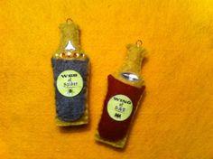 Felt Witch's Potion ornaments