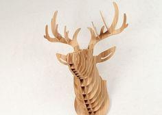 Tête DE Cerf Trophée Chasse Bois Luxe Rare ART Déco Loft   eBay                                                                                                                                                                                 Plus