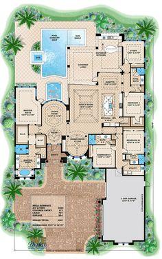 Coastal Florida Mediterranean House Plan 71542 Mediterranean house