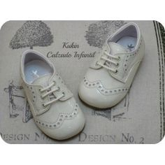 Zapatos niño - Calzado infantil - Blucher charol beige Landos