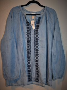 EBAY:  Was $69, NOW $35 + Ships FREE!  Jag Jeans Notch-Neck Embroidered Chambray Casper Shirt, Size XL   SAVE $34:  http://ebay.to/2D1H6nU