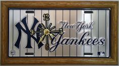 """1 , Yankee Clock, on, """" ,NEW YORK YANKEES, on, PIN STRIPES, """", Metal Sign, with a, Natural Oak, Wood, Frame,,3A5.11&15B3.5,,,SHIPPED USPS,,,, ASTRODEALS,http://www.amazon.com/dp/B00GA6FR6K/ref=cm_sw_r_pi_dp_L7g7sb1WX200458T"""