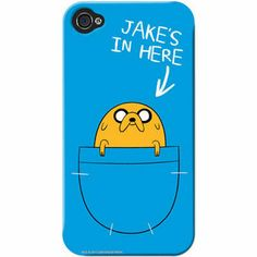 "Adventure Time iPhone case (""Jake's in here"")"