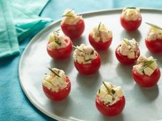 Cherry Tomatoes Stuffed with Chicken Apple Salad