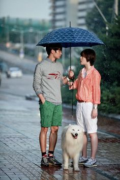 """Choi Jin-ri (a fomer member of f(x)) and Choi Min-ho (a member of SHINee) in the drama """"To The Beautiful You"""" with Sangchu the dog To The Beatiful You, Beautiful You Korean Drama, Choi Jin, Choi Min Ho, Lee Min Ho, Sulli, Kpop, High School Love, Netflix Movies To Watch"""