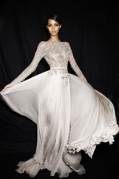 Look like a princess in this magnificent full length Elie Saab gown with a bedazzled body #couture...x