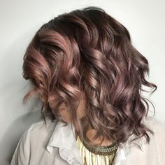 Chocolate Mauve Hair Color Trend
