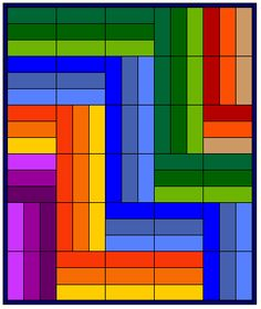 sample rail fence quilt top I love the bright color selections! Lap Quilts, Strip Quilts, Mini Quilts, Quilt Blocks, Quilting Tutorials, Quilting Projects, Quilting Designs, Quilt Design, Rail Fence Quilt