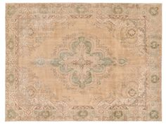 OVERDYED Vintage Persian Rug - 12.6 X 9.2 FT ( 383 X 280 CM ) Brown Color Authentic Handmade Carpet. Free world wide shipping