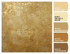 Instantly turn any picture into a palette with ColorSnap, created for you by Sherwin-Williams. Paint Colors For Living Room, Paint Colors For Home, Room Colors, Wall Colors, House Colors, Gold Painted Walls, Gold Walls, Metallic Paint Colors, Rustic Paint Colors