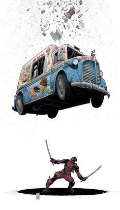 Deadpool #8 cover by Art Adams.