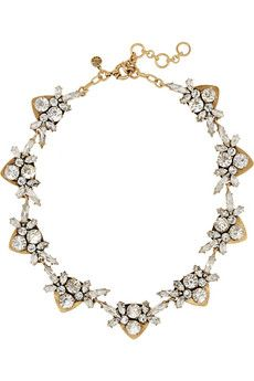 J.Crew Jewel Arrow gold-plated, crystal and cubic zirconia necklace | NET-A-PORTER