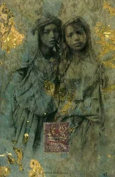 """nick bantock. One of my favorite artists; his collages """"illiustrate"""" his Griffin & Sabine series of books. Great writer too."""