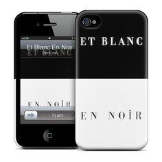 Et Blanc En Noir iPhone Case by GelaSkins