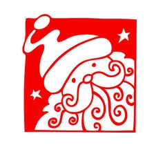 READY TO SHIP: Santa Claus Decal by CharlieThyme on Etsy
