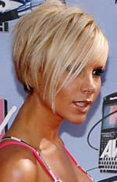 If I ever cut my hair this short this is how it will be! victoria beckham short blonde hair