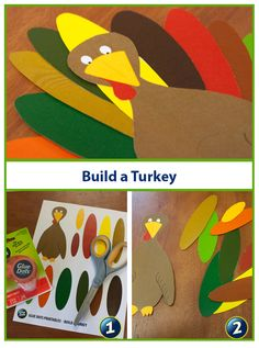 Looking for a quick and easy craft for kids? Build a Turkey and name him Tom! Use our free Turkey printable, Glue Dots and kid-safe scissors and start getting into the holiday spirit. Quick And Easy Crafts, Easy Crafts For Kids, Toddler Crafts, Holiday Activities, Craft Activities For Kids, Preschool Crafts, Fall Crafts, Holiday Crafts, Holiday Fun