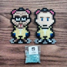 Walter and Jesse - Breaking Bad perler beads by stevieofpnath