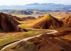 Ala dagh lar (colored mountains), East Azerbaijan, Iran
