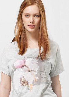 T-shirt imagem estampada - T-shirts Violeta | Violeta by MANGO Portugal