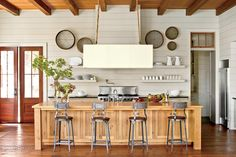 15 Ways with Shiplap: Open Kitchen with Shiplap Walls