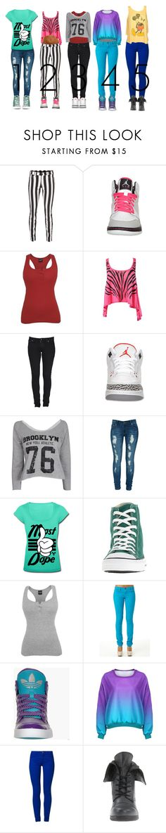 """""""Which is your Fav?"""" by unique813 ❤ liked on Polyvore featuring True Religion, Retrò, Lee, Criminal Damage, Converse, adidas, ONLY, Pink & Pepper and Junk Food Clothing"""