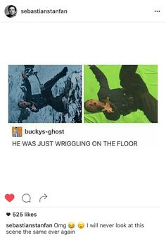 He was just wiggling on the floor! This scene is less terrifying now. Oh Sebastian