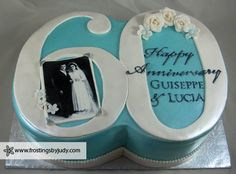 Frostings by Judy - Anniversary Cakes - 60th Wedding Anniversary