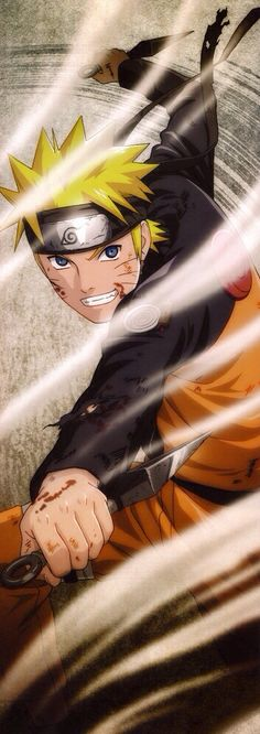 Naruto Uzumaki (うずまきナルト, Uzumaki Naruto) is the title character and main protagonist of the series: Naruto. He is a genin-level shinobi from Konohagakure, and a member of Team Kakashi. A maternal descendant of the Uzumaki clan, Naruto is the jinchūriki of the Yang half of Kurama the Nine-Tails. Despite once being ostracised by the majority of the village, he is now regarded as a hero, worthy of inheriting the position his own father once held.