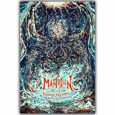Mastodon-Band Heavy Metal Art Abstract Trippy Psychedelic Image for Wall Decoration Silk Fabric Print Posters YL294