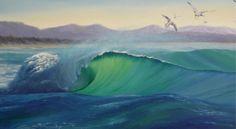 'Surfs Up' Karen Malmgren Artist Oil on canvas