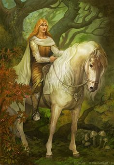 Asfaloth looks fantastic...but to me this concept for Glorfindel is nice....but too....stern perhaps.