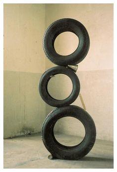 Peter Fischli and David Weiss: The Secret of the Pyramids, 1986 modern sculpture art installation abstract