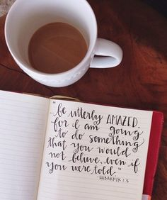 """""""Look at the nations and watch, and be utterly amazed. For I am going to do something in your days that you would not believe, even if you were told."""" Habakkuk 1:5 ~ Favorite verse!!"""