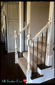 Refinishing Staircase Banisters!! A Complete Makeover!