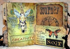 CREATIVITY IS CONTAGIOUS: A VINTAGE MINI ALBUM FILLED WITH WORDSi