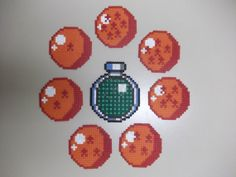 Dragon Balls and Radar set of coasters perler beads by beadstoterabithia