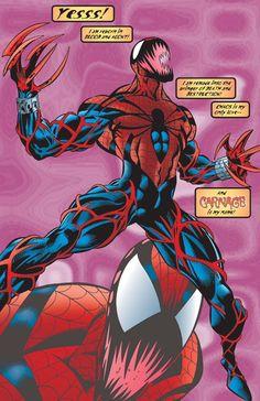 Ben Reilly from Amazing Spider-Man Vol 1 410 0001 Amazing Spiderman, Spiderman Art, Marvel Comics Art, Marvel Heroes, Venom Comics, Marvel Venom, Marvel Avengers, Spider Carnage, Carnage Symbiote