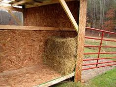 2 horse shelter feed storage - Google Search
