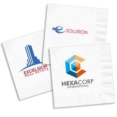 Design Your Own Full Color Logo Napkins