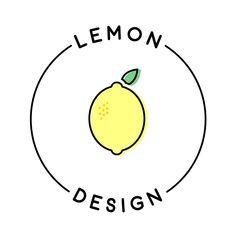 Logo for my freelance brand, Lemon Design Logo Branding, Branding Design, Dessert Logo, Sweet Logo, Fruit Icons, Fruit Logo, Creative Communications, Affinity Designer, Marca Personal