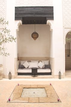 riad azzouna 13. marrakech. Patio con decoración marroquí. Moroccan riad. moroccan decoration. daramïna.es
