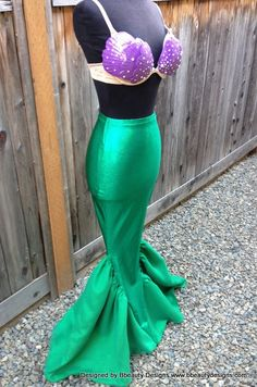Ariel Budget Little Mermaid Costume Tail and Shells by Bbeauty79