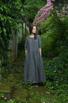 GREY LINEN DRESS BY KNOCK KNOCK LINEN https://www.etsy.com/uk/shop/KnockKnockLinen?section_id=11139731&page=2