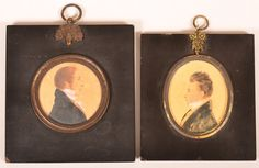 Two Early 19th Century Miniature Oval Portait Paintings : Lot 515